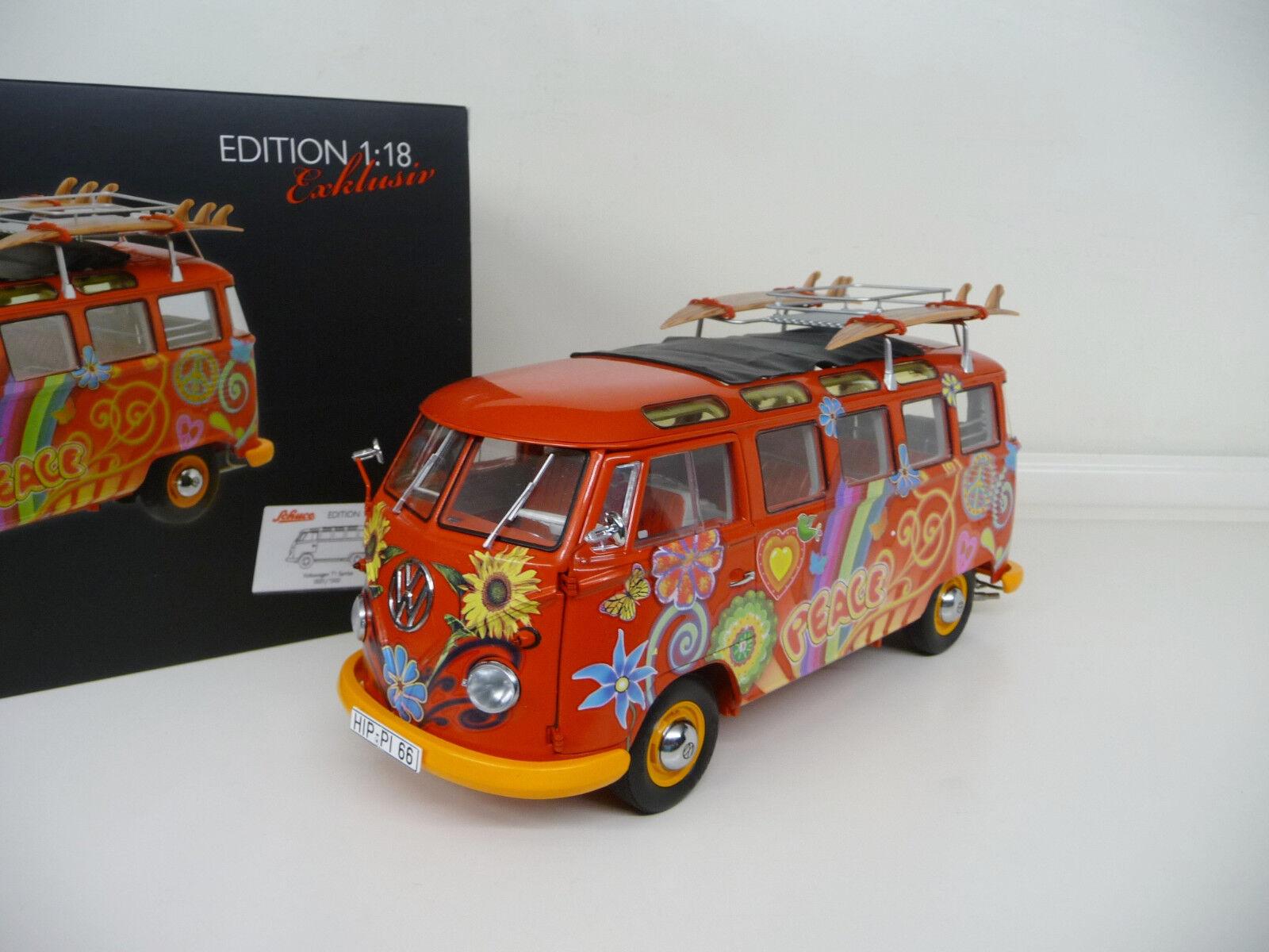 1:18 Schuco VW Volkswagen T1 Samba Hippie Surf NEW FREE SHIPPING WORLDWIDE