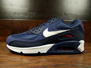 Details about Nike Air Max 90 Essential (Midnight Navy White V Red) [AJ1285 403] Mens 8 13