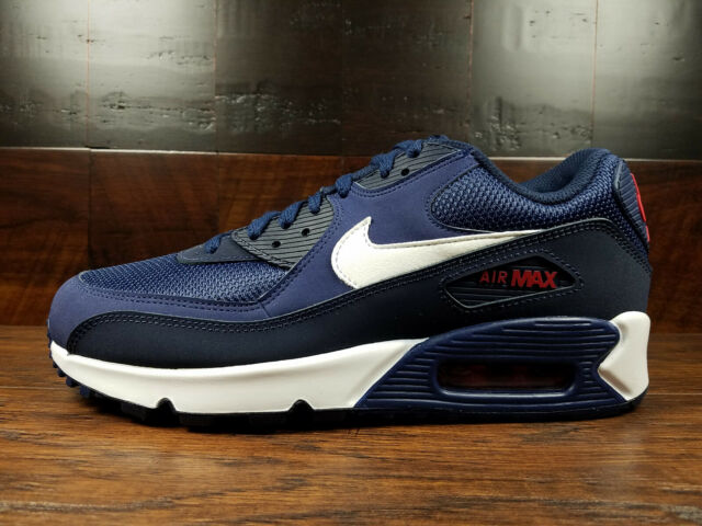 huge selection of 255ab 1228d Nike Air Max 90 Essential (Midnight Navy / White / V Red) [AJ1285-403] Mens  8-13