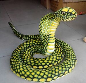 stuffed animal emulational anaconda green snake king cobra plush toy