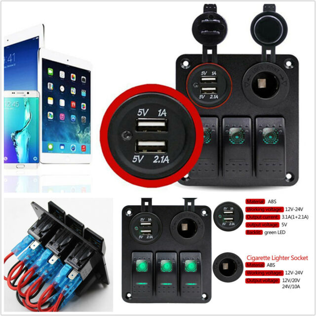Boat Marine Led Rocker Switch Panel Circuit Breaker 4 Switches Ebay on 2 gang switch wiring diagram, 5-way light switch diagram, two gang electrical box wiring diagram, 4 gang switch box, 4 float switch wiring diagram, cooker unit wiring diagram, 4 light wiring diagram, basic boat wiring diagram,
