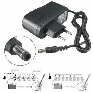 EU-9V-Gitarre-Effekt-Pedal-Power-Supply-isolierte-Adapter-Ausgang-DC-1A