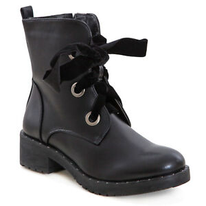 Talon Biker pour Détails Basses Gros Bottines Femmes Chaussures Rangers Cuir sur à lF1J3KTc