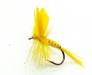 Light CAHILL DRY Flies 3 Pack Catskill Mayfly Trout Fly Fishing Size 10,12,14,16