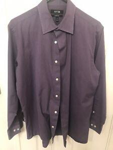 Details about MENS Apt 9 PURPLE Button-up Long Sleeve Shirt *apartment 9  cotton SIZE 16 32/33