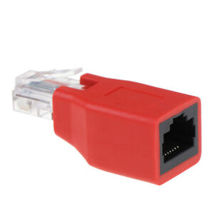 RJ45 Male to Female Connected Crossover Cable  Adapter Convertor TSha