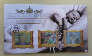 2016-NEW-ZEALAND-QEII-90tH-BIRTHDAY-039-HOLOGRAM-039-SET-OF-3-STAMPS-FDC