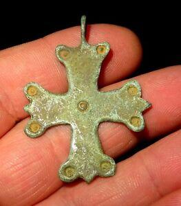 PENDENTIF CROIX EN BRONZE - BYZANTIN 1000-1200 AD BYZANTINE BRONZE CROSS PENDANT P6LfjIPn-07185234-357912599