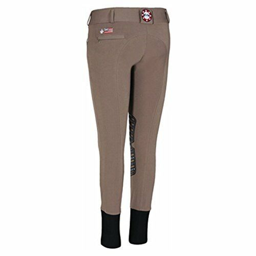 Equine Couture Wouomo Brittni Knee Patch Breech, Chocolate , 24