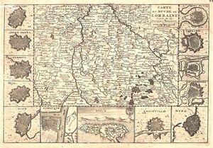 Antique-map-Carte-du-Duche-de-Lorraine-Gravee-sur-les-derniere-memoires