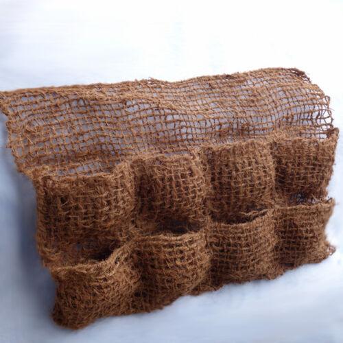 6 Kokos Pflanztasche mit 8 Taschen Teichfolie Pflanzhilfe Teichrand Kokostasche