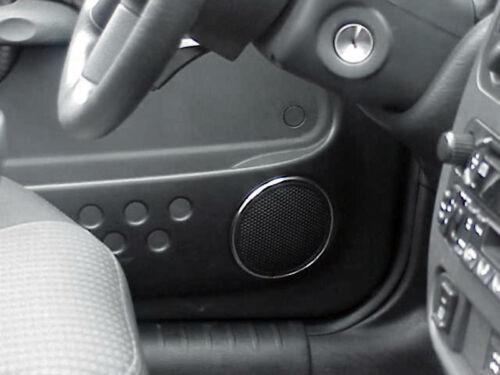 711037 PT Cruiser Car Door Speaker Bezels Chrome Molding Front Standard 4 Door
