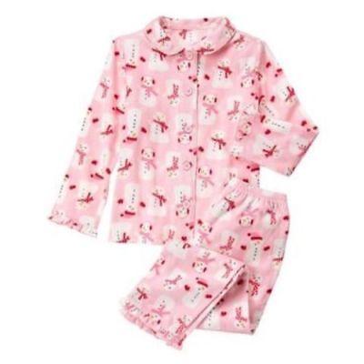 New Gymboree Girls Holiday Pink Snowman Fleece 2 Piece PJ/'s NWT 2T 4 Pajamas