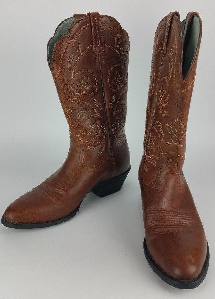 ARIAT damen 6 B braun Leather Heritage Western Cowboy Stiefel Rodeo Scallop 15702