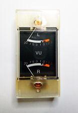 Vintage Analog Vu Panel Meter L R Audio Meter Amp Sound Db New Old Stock