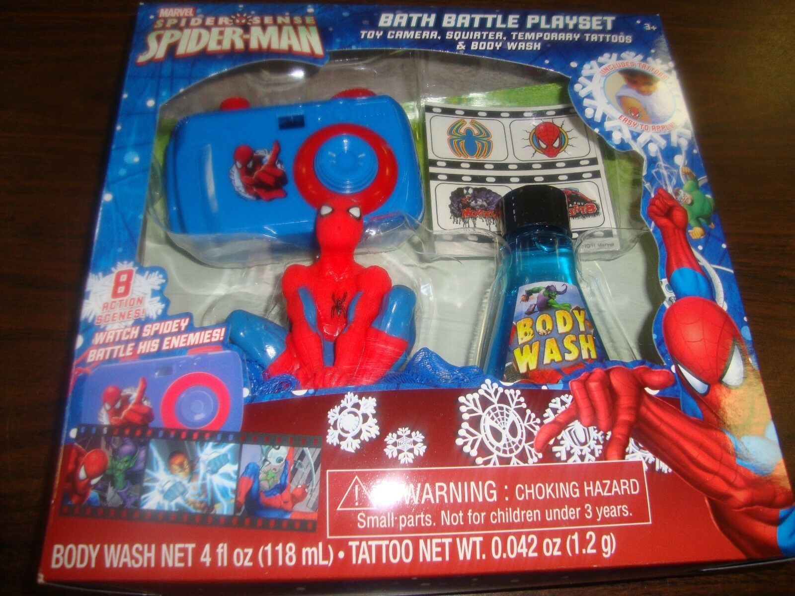 Spider-Man---Bath Spider-Man---Bath Spider-Man---Bath Battle Playset---With Camera Squirter Tattoos Body Wash---2011 34573d