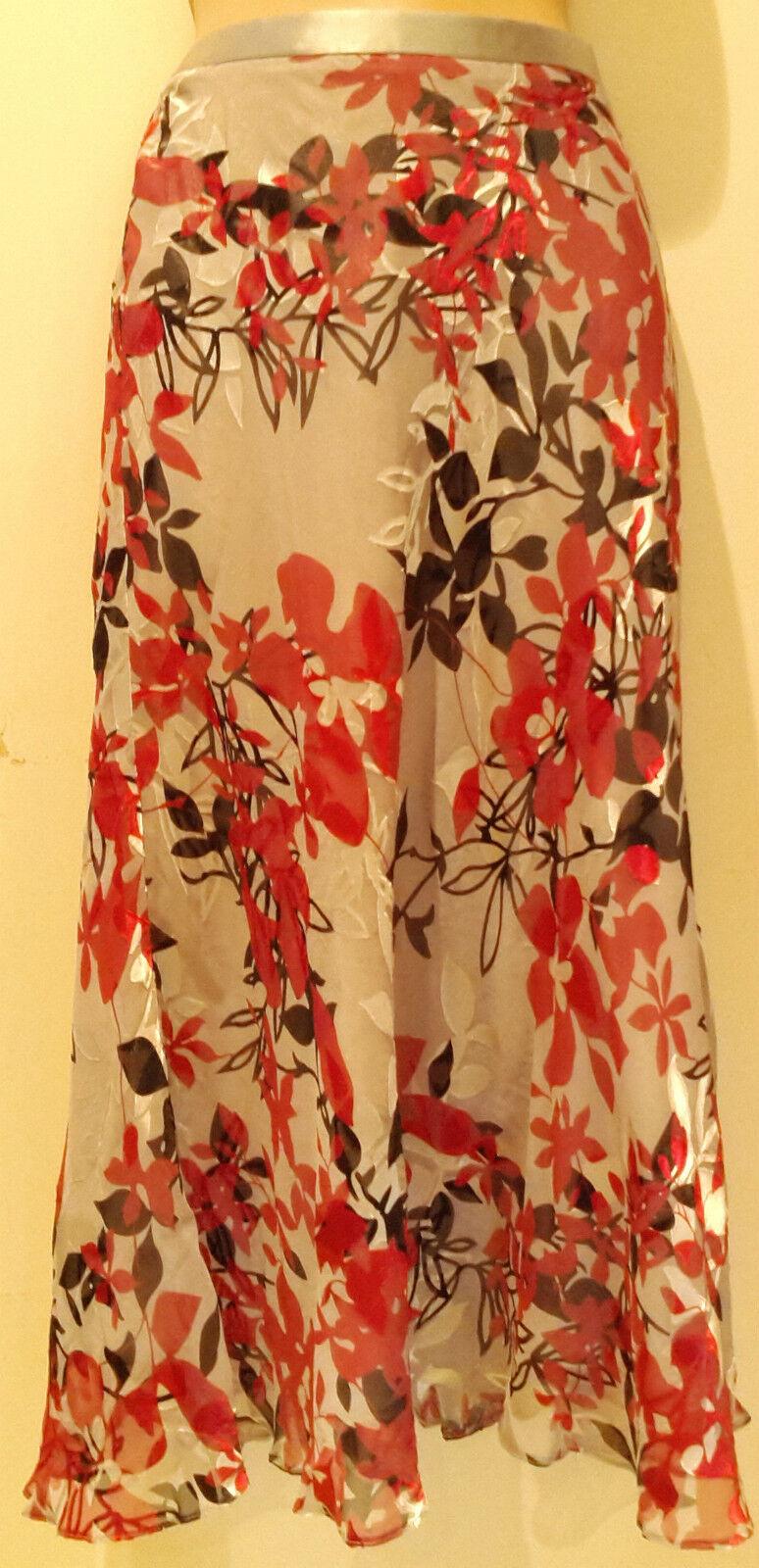 Eastex Pink Mix Silk Blend Midi Flare Dance Skirt (NEW) UK Sizes 8, 10, 18 or 20