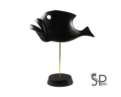 """EXCLUSIVE ABSTRACT WOODEN HAND CARVED SCULPTURE """"Fish"""" Decor - 10.6"""" /27cm"""