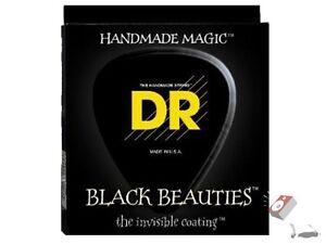 DR Strings BKE-10 Medium Black Beauties Electric Guitar Strings (10-46)