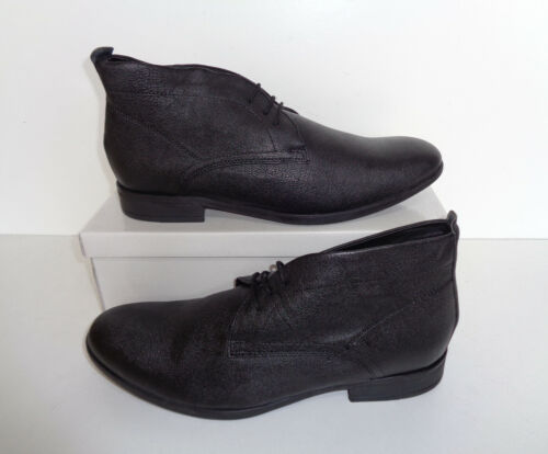 Mens New Black Leather Lace Up Ankle Dress Smart Casual Boots Shoes UK Size 6-11