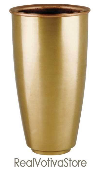 Vaso portafiori in bronzo per lapidi - Linea PISSIDE