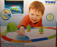 Tomy Produced Rev N Rails Friction Powered Childrens Plastic Train Set