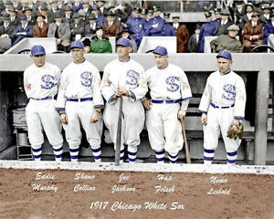 1917-White-Sox-8X10-Photo-Jackson-Collins-COLORIZED-Buy-Any-2-Get-1-FREE