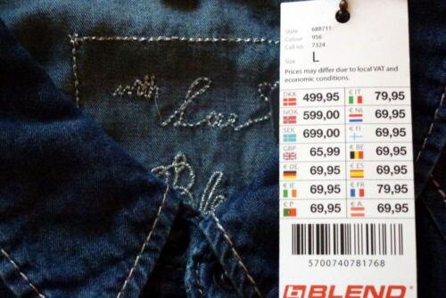Blend Collection Damen Jeansbluse Hemd blau XS S M L XL