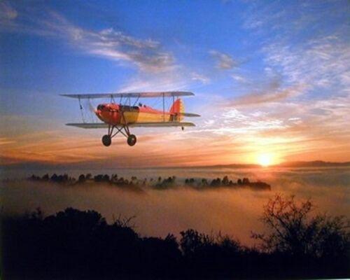 16x20 Wall Decoration Bi-plane WACO 10 Vintage Plane Aviation Art Print Poster