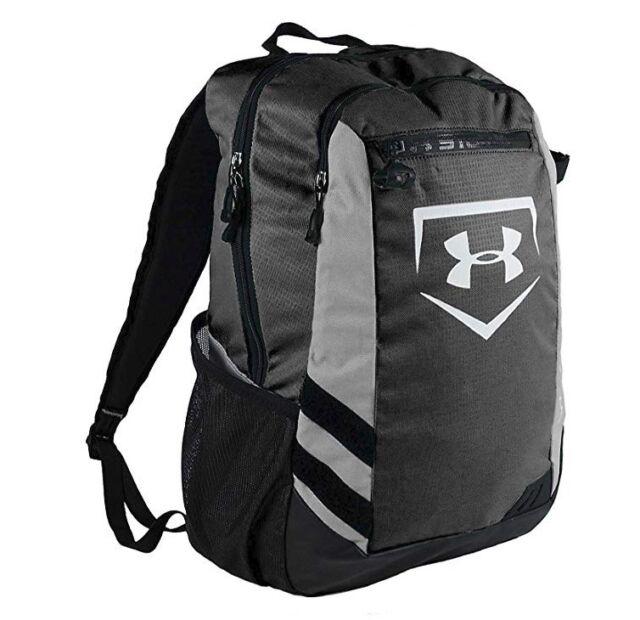 half off f7548 d8d63 Under Armour Hustle Storm Adult Batpack Bat Bag Backpack, Black, UASB-HBP,