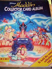 RARE PANINI WALT DISNEY ALADDIN COLLECTOR CARD ALBUM BOOK  WITH ALL CARDS