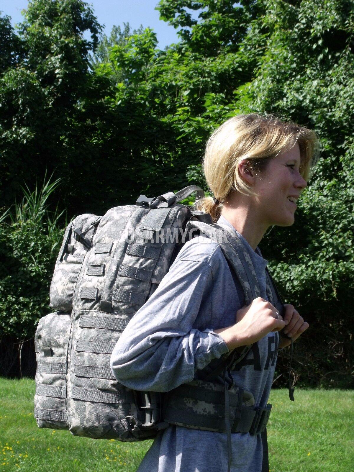 Made in US Army Military Army Combat Uniform MOLLE II Moyen Sac à dos Sac à dos + Drapeau Eagle BAE