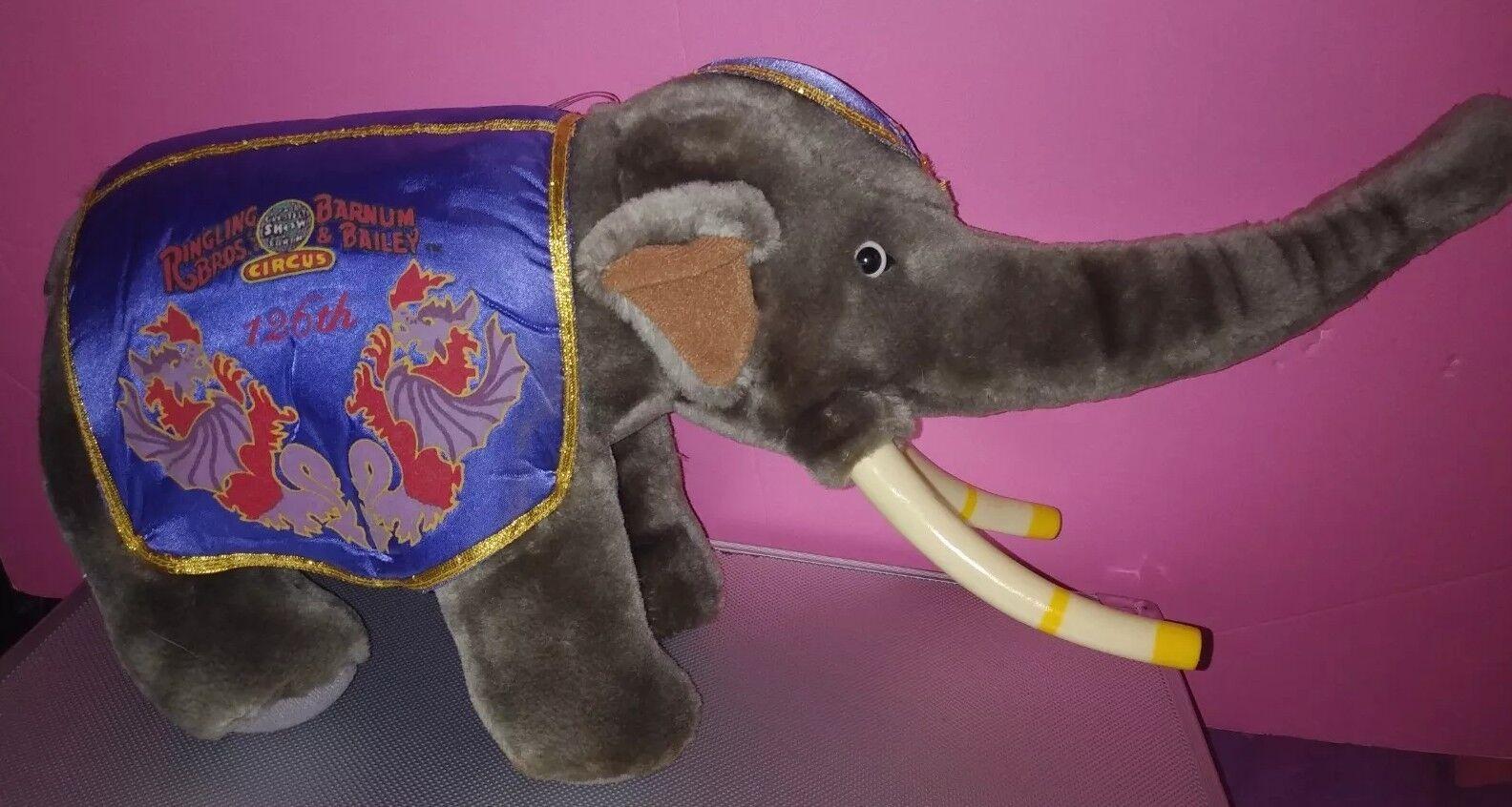 Ringling Bros Barnum & Bailey 126th Ed. Circus Greatest Show   Elephant Plush