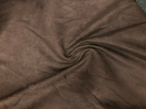 SUEDE FABRIC 150cm 225gsm Plain Dress Upholstery Chairs Cushions Soft Curtains