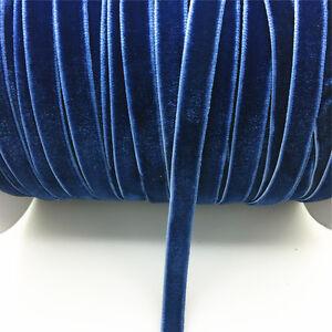 New-DIY-5-yards-3-8-034-10mm-Velvet-Ribbon-Headband-Clips-Bow-Decoration-NO9