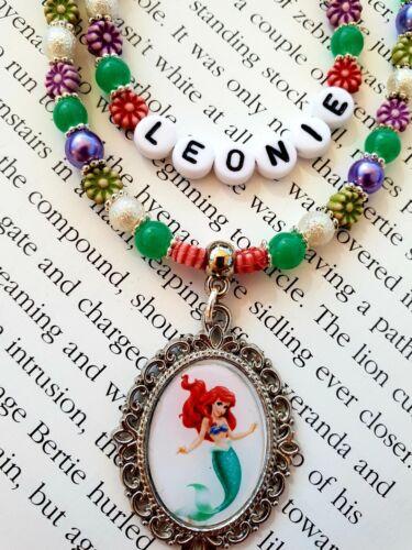 Joyería Personalizada para los niños! Little Mermaid Pulseras Collar Conjunto de Regalo