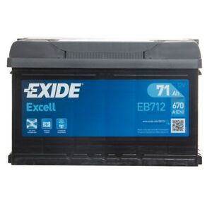 aaa35f7c7f5 Exide EB712 Excell 100 Car Battery 3 Years Warranty 71Ah 670cca 12V ...