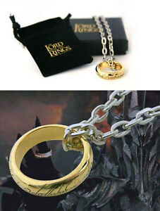 The-Hobbit-The-One-Cast-Metal-Costume-Ring-With-Chain-New-amp-Official-In-Box