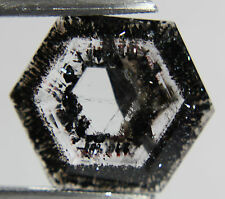 Quartz Goethite,18.10ct 20x23mm Brazil,black needles, fancy cut briolette