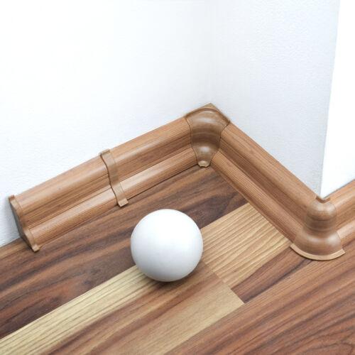 5cm MUSTER Sockelleisten PVC Fußleisten Bodenleiste 52mm hoch Kabelkanal Neu