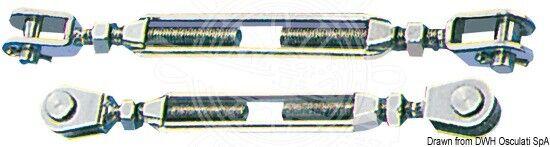 Osculati Wantenspanner mit zwei festen Gabelterminals AISI 316 16 mm