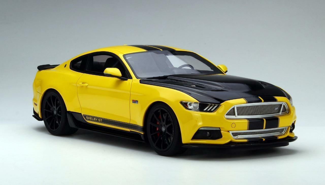 FORD MUSTANG SHELBY GT 350 2015 GIALLO NERO US002 1 18 - GT SPIRIT LIMITED 1050