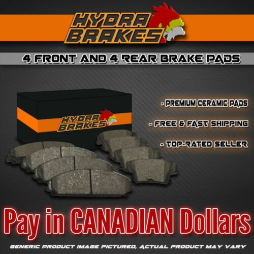 FITS 2002 2003 2004 2005 DODGE RAM 1500 Ceramic Brake Pads F+R