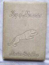 1963 KEYSTONE HIGH SCHOOL YEARBOOK, KNOX, PENNSYLVANIA  KEY OF MEMORIES