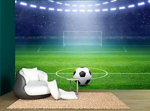Image Is Loading Soccer Football Stadium Lights Ball Wall Mural Photo
