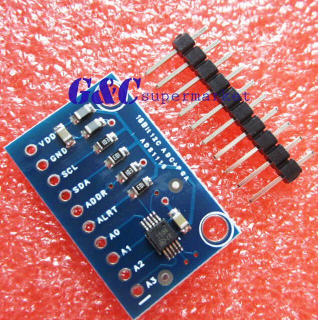 16 Bit I2C ADS1115 Module ADC 4 channel with Pro Gain Amplifier Arduino Rpi M109