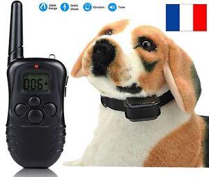 Collier-de-dressage-anti-aboiement-chien-electrique-telecommande-PORTEE-300M