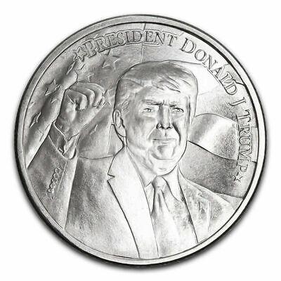 2020 President Donald J Trump 1 Troy Oz .999 Silver Round MAGA