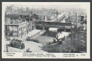Wales-postcard-East-Canal-Wharf-Cardiff-amp-Tramcar-No-22-c1910-A1017