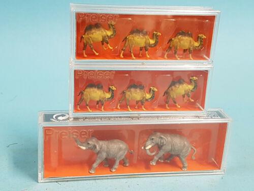 2x 79711 Kamele //TOP+OVP Preiser N 1:160 79710 Elefanten